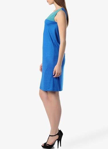 Limon Company Kolsuz Kısa Elbise Mavi